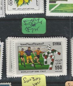SYRIA   (PP0202B)     WORLD CUP    SG 1762-4         MNH