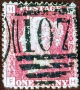 Great Britain Penny Red used F