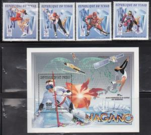 Chad 688-92 Olympic Sports Mint NH