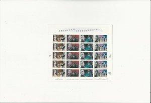 US Stamps/Postage/Sheets Sc #3843a American Choreographers MNH F-VF OG FV 7.40