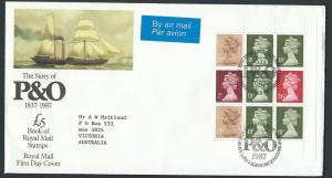 GB QEII 1987 Machins Booklet Pane x847m VFU P & O Story