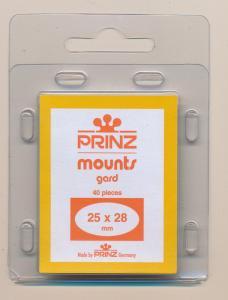 Prinz Scott Stamp Mount Size 25/28mm - CLEAR (Pack of 40) (25x28 25mm)  PRECUT