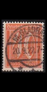 GERMANY REICH [1921] MiNr 0182 ( O/used )