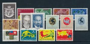 Liechtenstein 1969 Complete Year Set MNH