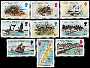 Cayes of Belize 1-9, MNH, Island Wildlife and Scenes