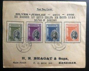 1936 Zanzibar First Day Cover FDC Silver Jubilee Sir Seyyid Khalifa Sultan