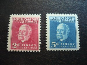 Stamps - Cuba - Scott# 319-320 - Mint Hinged Set of 2 Stamps