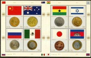 UNITED NATIONS Sc# NY 920 Geneva 464 Vienna 387 2006 Flags & Coins Sheets MNH