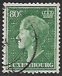 Luxembourg # 253 - Grand Duchesse Charlotte - 80ct - used...(KlGr)