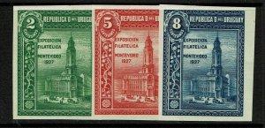 Uruguay SC# 330 - 332 Mint Hinged - S11873