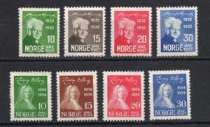 Norway - Sc# 154 - 157 MLH + 158 - 161 MH (rem) / Lot 1018071