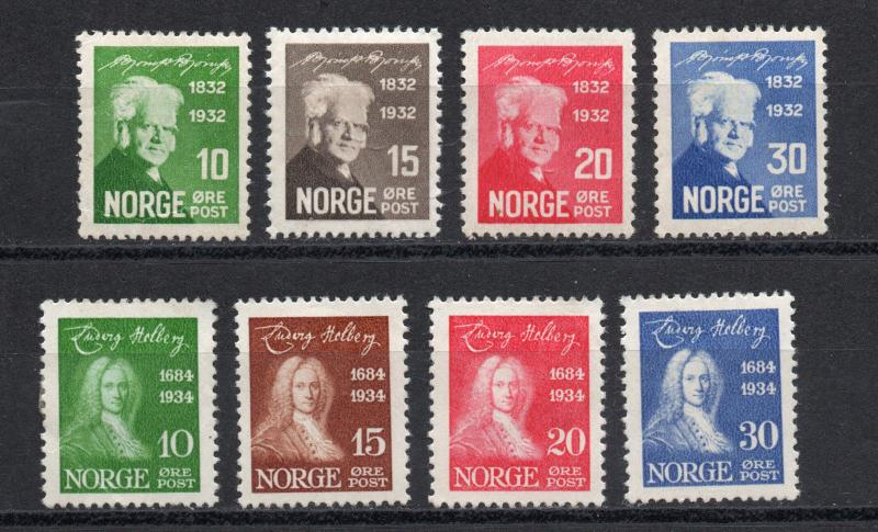 Norway - Sc# 154 - 157 MLH + 158 - 161 MH (rem) / Lot 1018071