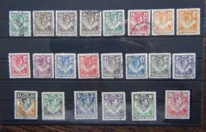 Northern Rhodesia 1938 - 1952 set to 20s VFU SG25 - SG45