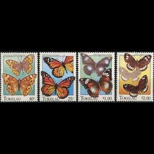 TOKELAU 1995 - Scott# 213-6 Butterflies Set of 4 NH