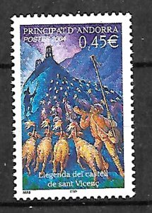ANDORRA STAMPS. LEGEND OF THE CASTLE OF SANT VICENC, 2004, MNH