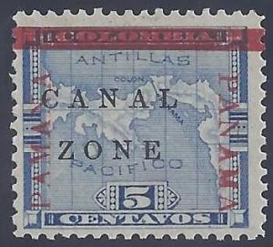 Canal Zone scott #12 Mint LH OG VF