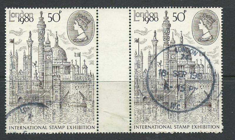 GB  QEII  SG 1118 London 1980 g/pair Used type II -bends
