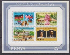 KENYA 1983  QUEENS ROYAL VISIT  MINI SHEET  MNH