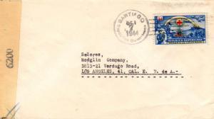 Dominican Republic 3c International Red Cross 1944 Santiago, Republica Domini...