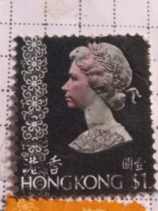 Hong Kong 307 1 dollar used  cv 19.00