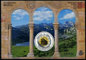 HERRICKSTAMP NEW ISSUES SPAIN Sc.# 4204 Monuments of Oviedo and Asturias S/S