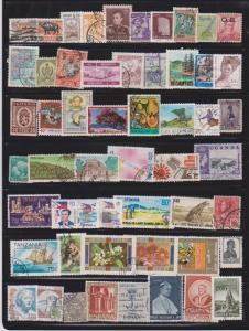 LOT OF DIFFERENT STAMPS OF SPAIN USED (54) LOT#149