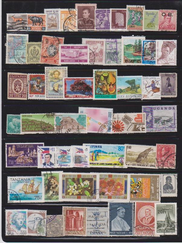 LOT OF DIFFERENT STAMPS OF THE WORLD USED (54) LOT#149