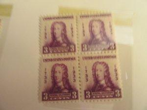 SCOTT 726  3 CENT GEORGIA BICENTENNIAL 1933 OG
