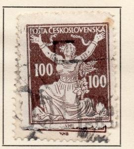 Czechoslovakia 1920-21 Early Issue Fine Used 100h. 142501