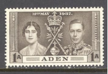 Aden  Sc # 13 mint never hinged (RS)