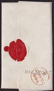 GB 1832 cover to London - MARYPORT namestamp................................7256