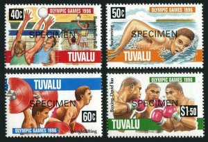 Tuvalu 717-720 SPECIMEN,MNH.Mi 743-746.Olympics Atlanta-1996.Volleyball,Swimming