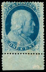 momen: US Stamps #24 Mint OG Margin Copy