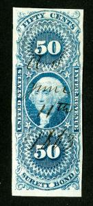 US Stamps # R63a Revenue VF Used Scott Value $400.00