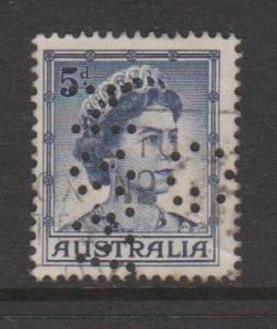 Australia Sc#319 Used G NSW Perfin