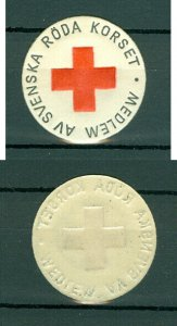 Sweden. Seal Embossed 1960s. MNH. Red Cross. Member Of Swedish Red Cross