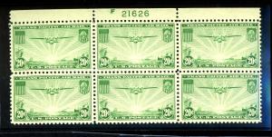 C21 MINT Plate Block F-VF OG NH Cat $85