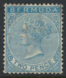 Bermuda  SG 25 SC# 20 Used  Blue    see details and scans