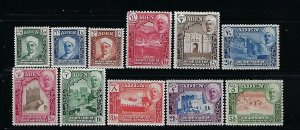 ADEN -SHIHR AND MUKALLA- SCOTT #1-11 1942  SET - MINT LIGHT  HINGED