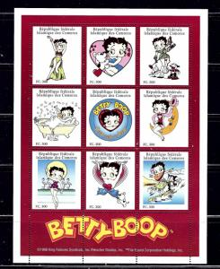 Comoro Is 832A MNH 1998 Betty Boop Sheet of 9