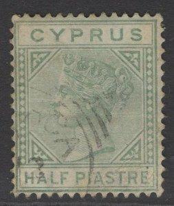 CYPRUS SG16 1882 ½pi EMERLAD-GREEN USED