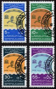 Sharjah Mi 181-184 cto-h set/4 1965  Nubian Monuments