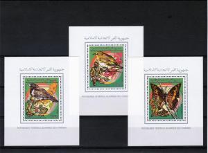 Comoro Islands 1989 Birds/Butterflies/Scouts 6 SS Perf.MNH