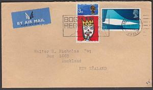 GB 1969 1/9d rate airmail cover Bognor Regis to New Zealand................55086