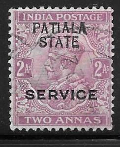 India Patiala O32: 2a George V, used, F