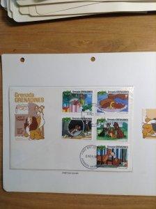 Grenada Grenadines  #  450-458  First day cover