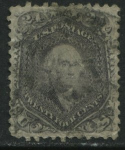 United States 1862 24 cents lilac used