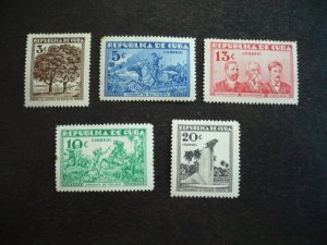 Stamps - Cuba - Scott# 312-316 - Mint Hinged Set of 5 Stamps