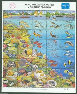 PALAU WORLD OF SEA AND REEF SHEET SCOTT#103   MINT NH