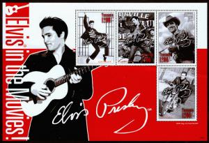Tanzania (2008) Elvis in the Movies Souvenir Sheet, Mint NH VF C